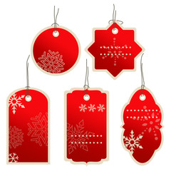 Christmas nad winter price tags