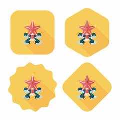 Christmas star flat icon with long shadow,eps10