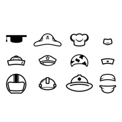 cute occupations hat icon vector