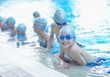 children group  at swimming pool - 74760994