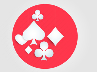 Ace playing card symbols in a circle.