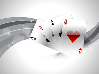 Ace playing cards for casino.