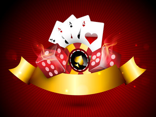 Concept of casino objects.
