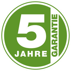 Garantie - 5 Jahre