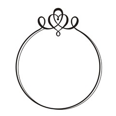 decorative round frame with monogram