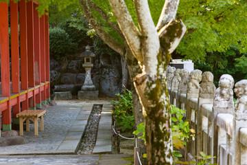 Japanese buddhistic garden in Kosanji temple, Japan
