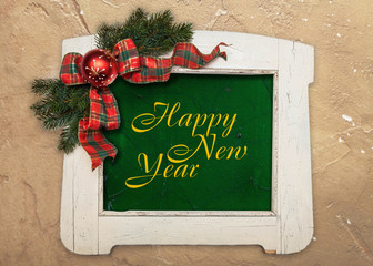 Happy new year greeting sign
