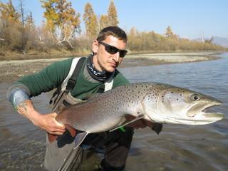 Taimen fishing in Mongolia