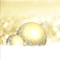 Goldene Kugeln und winterliche Weihnacht