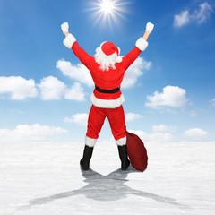 Glücklicher Weihnachtsmann