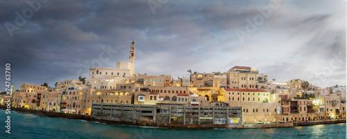 Fotobehang Vestingwerk Jaffa port.