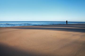 Shadows on sand.