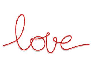 Shape word - love. EPS 10