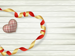 Valentines day toy heart. EPS 10