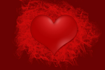 Hot red heart background