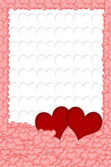 Hearts background vertically.