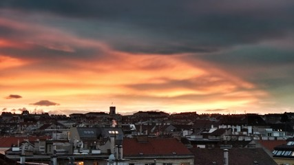 Sunset over Vienna Ottakring