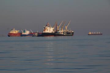 Huge tanker on the high seas