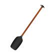 Sporting oar in black design with wooden handle