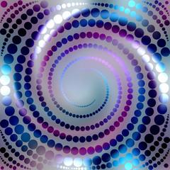 Blue shining spiral