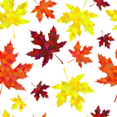 seamless autumn pattern. Vector illustartion