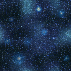 Space with glow stars background.