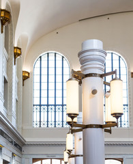 White Columns and Lights in Union Station