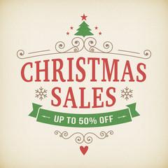 vintage after christmas sales poster background