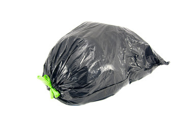 garbage bag on white background with clipping path