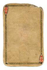 ancient used grunge playing card paper background