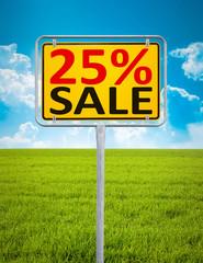 25 percent sale