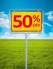 50 percent sale