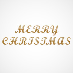 Merry Christmas wooden letters greeting