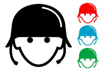 Pictograma icono militar con varios colores