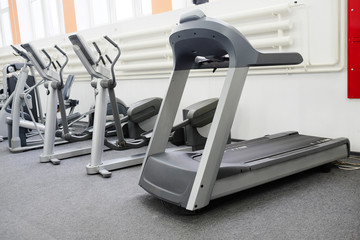 image of treadmill isolated under the white background