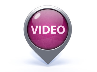 video circular icon on white background