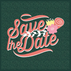Save the date invitation with texture