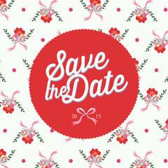 Save the date invitation. Floral Background