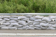 canvas print picture - Sand bags