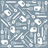 Vector kitchen tools wallpaper