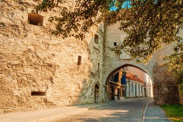 Entrance To Old City Sea Gate In Tallinn, Estonia