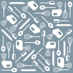 Vector kitchen tools wallpaper