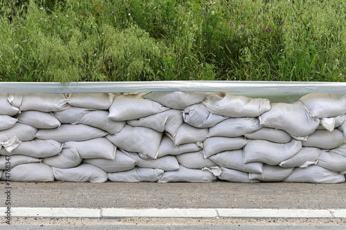 canvas print picture Sand bags