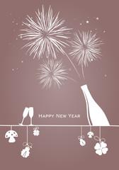 Silvester Feuerwerk Glücksbringer
