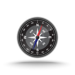 Vector of compass on isolated white background