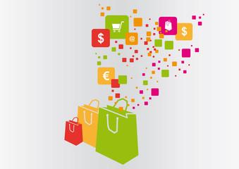 shopping world vector illustration