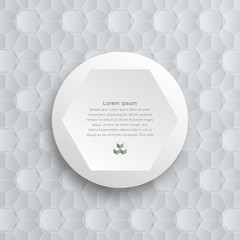 Infographics Vector Background Honeycomb Structure , White