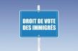 panneau droit de vote des immigrés