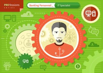 Make IT specialist profession concept