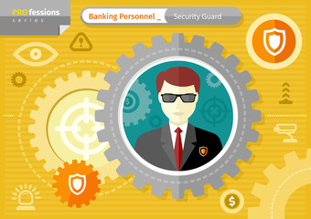 Male security guard profession concept